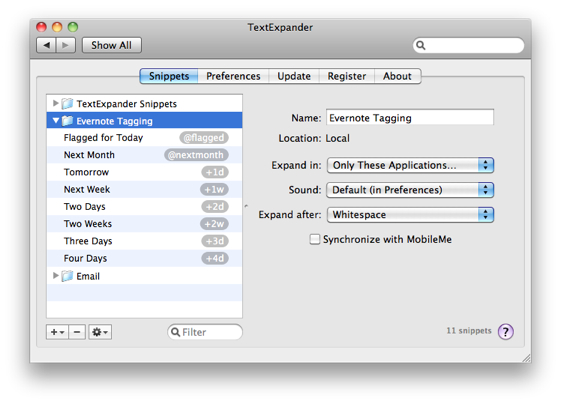 TextExpander Snippets
